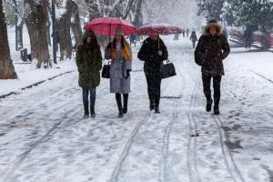 L'hiver est arrivé : Kyiv est sous la neige