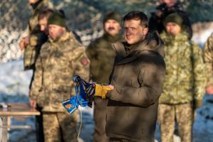 Volodymyr Zelensky : Je voulais rencontrer nos militaires avant le sommet au format Normandie