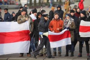 В Минске - митинг против интеграции Беларуси с РФ