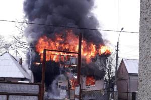 На Закарпатье горел магазин со строительными складами
