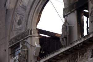 В Одесі демонтували частину стіни коледжу заввишки у два поверхи