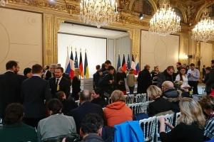 Conferencia de prensa final del Cuarteto de Normandía en París