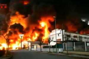 Під Барселоною горить хімзавод, жителів прилеглого району евакуювали