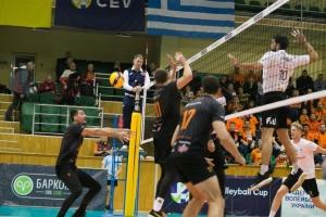 Волейбол: «Барком-Кажаны» проиграли ПАОКу в 1/16 финала Кубка EKB