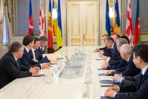Зеленський виступає за подальше спрощення перетину кордону громадянами країн ГУАМ