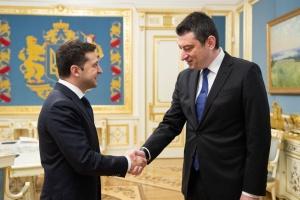 Zelensky trata con el primer ministro de Georgia la cooperación en la integración europea y euroatlántica