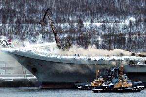 """На российском авианосце """"Адмирал Кузнецов"""" нашли второго погибшего  при пожаре"""