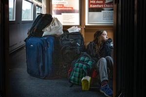 """З першого класу до тамбура: Грета Тунберг """"з'ясовує стосунки"""" з німецькою залізницею"""