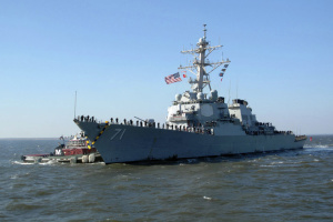U.S. Navy destroyer Ross enters Black Sea