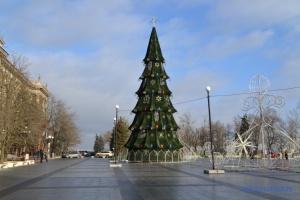 В Николаеве установили главную елку
