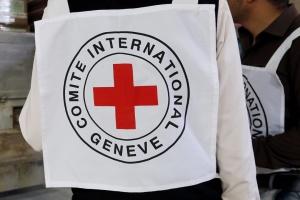 Красный Крест помогает перевозить маломобильных людей через линию разграничения