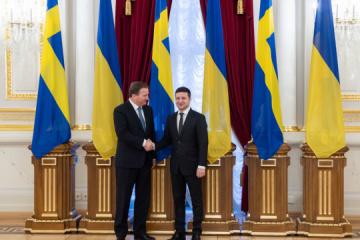 Zełenski spotykał się z premierem Szwecji