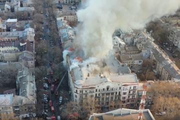 Incendie à Odessa: Zelensky a exprimé ses condoléances aux victimes et a remercié les sauveteurs