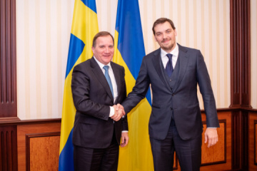 Honcharuk, Swedish prime minister discuss Nord Stream 2