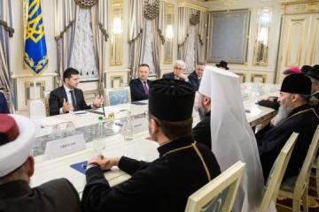 El presidente se reúne con representantes de iglesias y organizaciones religiosas de Ucrania