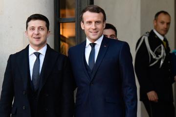 Selenskyj und Macron besprechen telefonisch Corona-Pandemie und Lage in der Ostukraine
