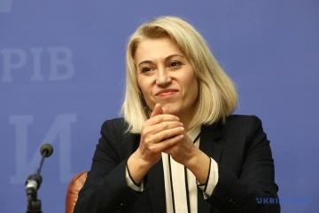 Alyona Babak révoquée du poste de ministre du Développement des communautés et des territoires de l'Ukraine