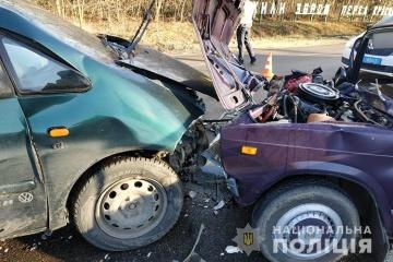 In der Region Ternopil Schulbus in Verkehrsunfall geraten
