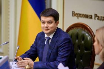 Dmytro Razoumkov a fait ses vœux aux Ukrainiens pour l'Année 2020