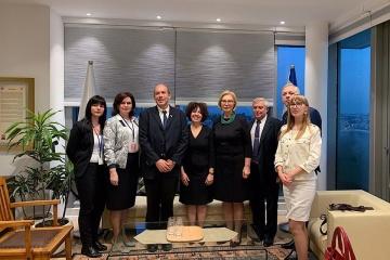 Denisova en Jerusalén discute la ratificación del acuerdo de seguridad social