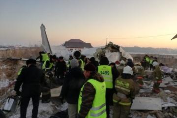 Two Ukrainians survive plane crash in Kazakhstan