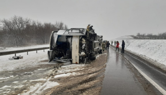 У Росії перекинувся автобус з українцями, вісім постраждалих