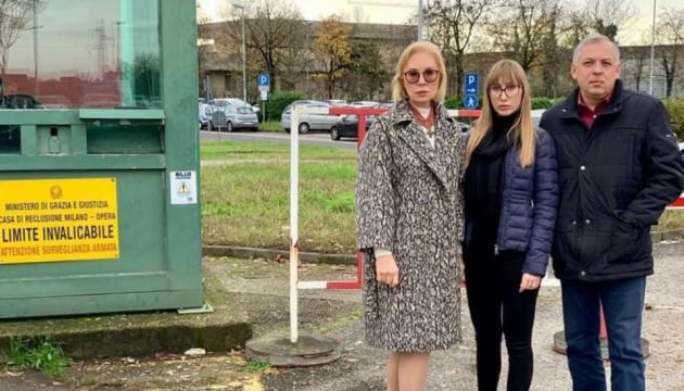 Денісова відвідала Марківа в італійській в'язниці