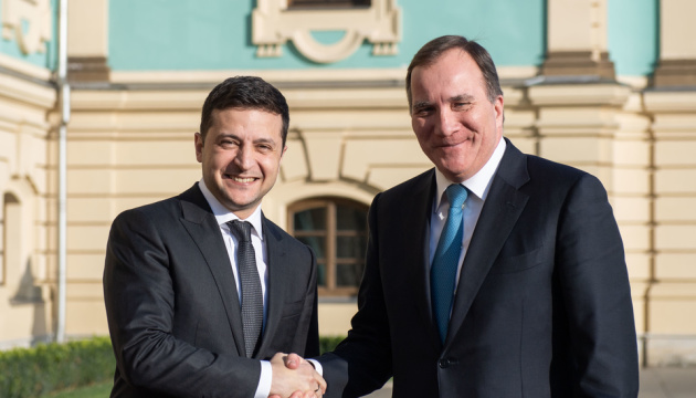 Zelensky holding meeting with Swedish prime minister in Kyiv