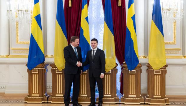 Zelensky se reúne con el primer ministro de Suecia