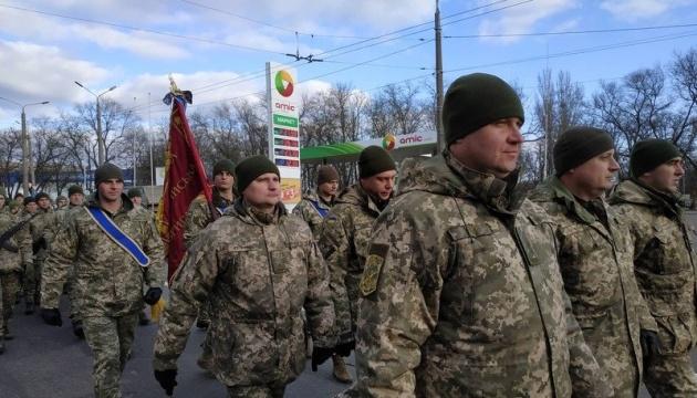 У Миколаєві - урочиста хода військових, які повернулися з Донбасу