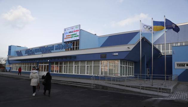 Брати Клички відкрили оновлений легкоатлетичний манеж на Березняках