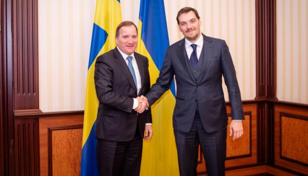 Olexiy Hontcharouk a discuté de Nord Stream 2 avec son homologue suédois