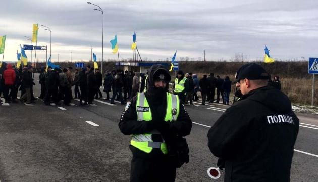 """""""Земельні"""" протести на трасі Київ-Чоп пройшли без порушень – поліція"""