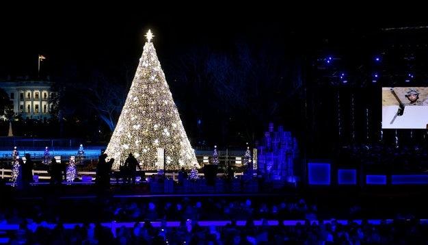 Трамп с супругой зажгли огни на главной рождественской елке США