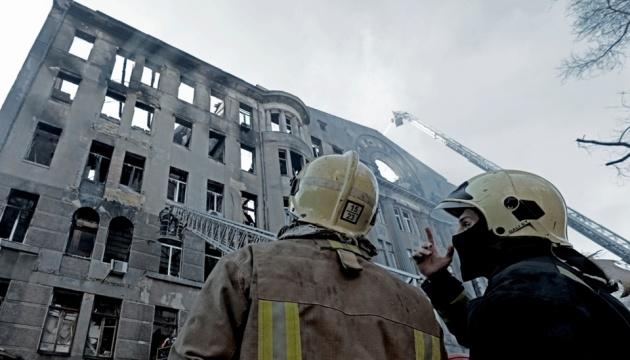 Пожар в Одесском колледже: суд отпустил завхоза под домашний арест