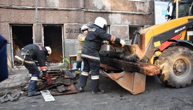 Спасатели считают, что в сгоревшем здании колледжа в Одессе живых нет