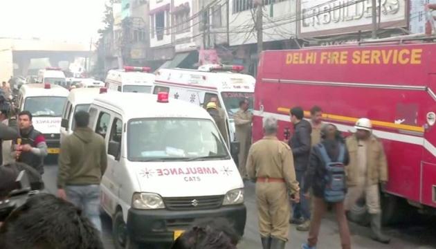 Під час пожежі у Нью-Делі загинули 43 особи