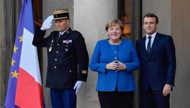 Merkel und Macron sprechen über Normandie-Format