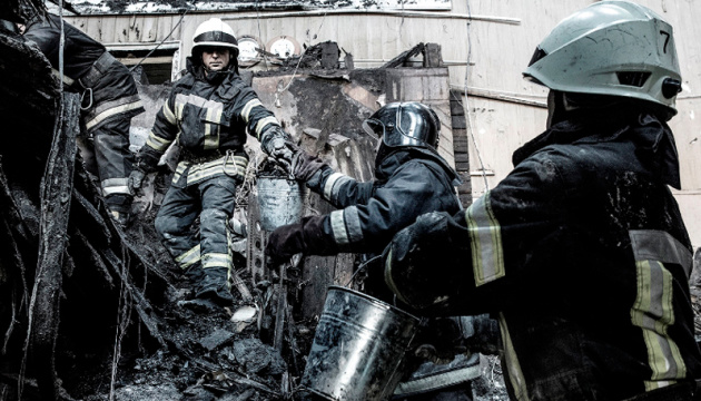 Einsturzgefahr an Brandstelle in Odessa