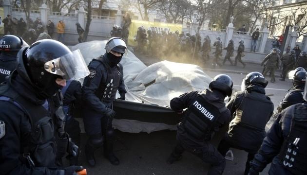 Поліція розібрала намети в урядовому кварталі