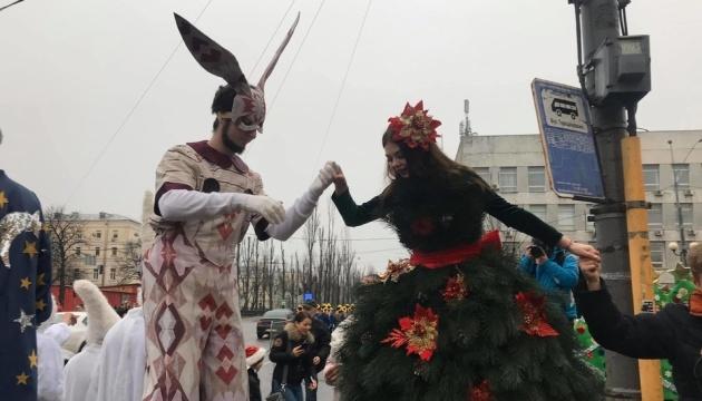У столиці вперше проходить Новорічний парад