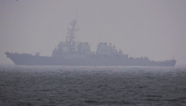 U.S. Navy destroyer Ross enters Odesa port