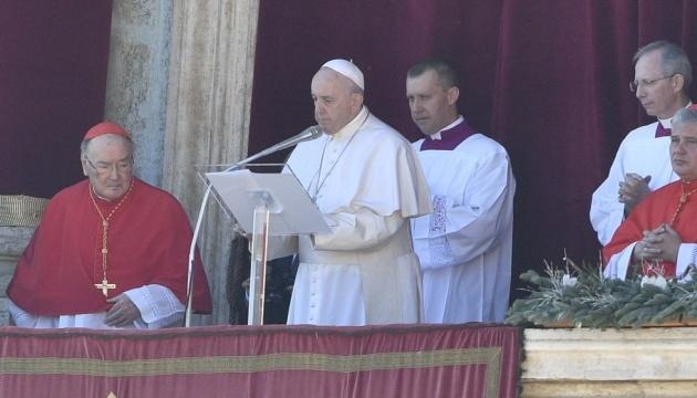 Le pape François mentionne l'Ukraine dans son discours « Urbi et Orbi » de Noёl