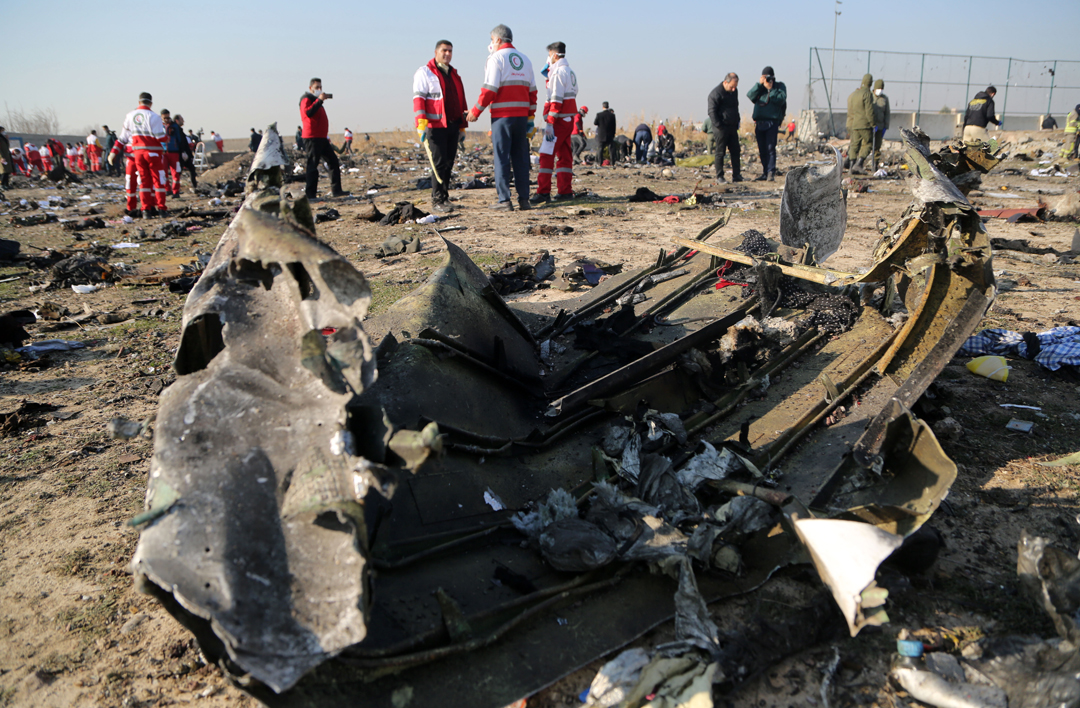 Катастрофа літака МАУ в Тегерані / Фото: АА