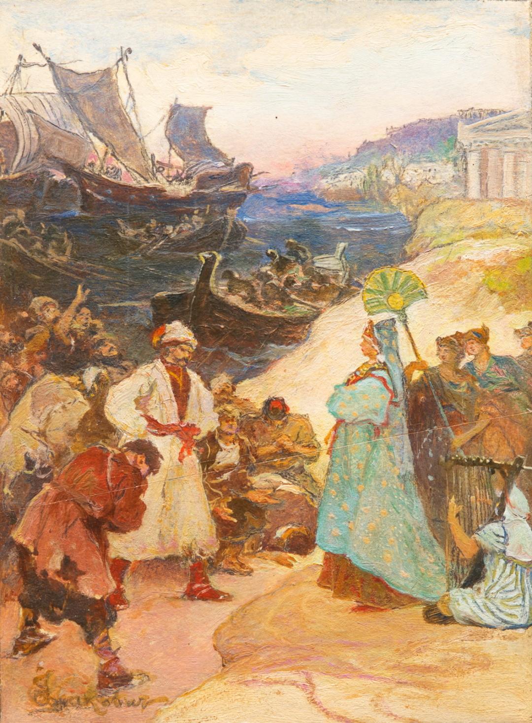 Ілюстрація до Енеїди, Троянці і Дідона, 1940-і рр.