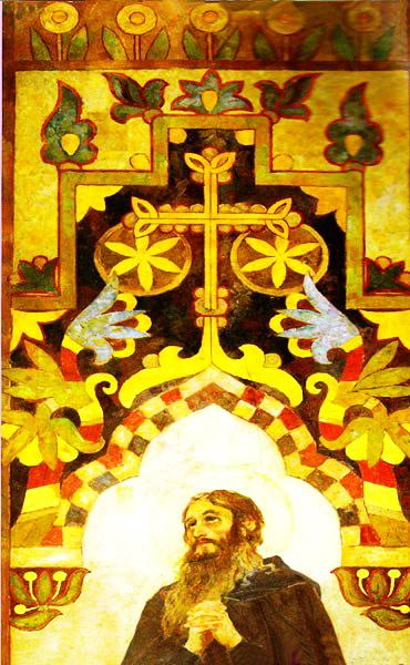 Фрагмент розпису церкви Всіх святих Києво-Печерської Лаври, 1906-1906 рр.