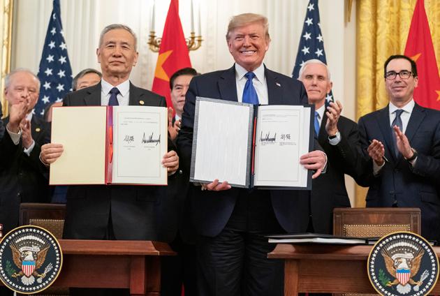 Лю Хе, Дональд Трамп / Фото: The White House