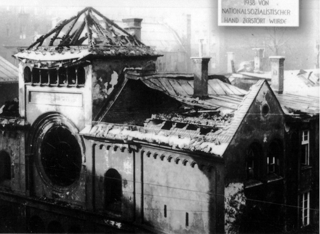 Мюнхенська синагога - одна з близько 1500 зруйнованих чи пошкоджених впродовж 9-10 листопада 1935 р.