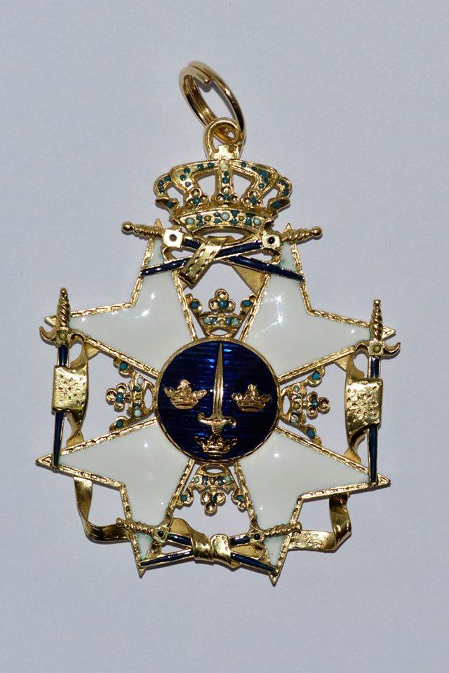 Точна копія Ордену Меча, виготовлена ювелірами шведського короля в 2018-2019 рр.
