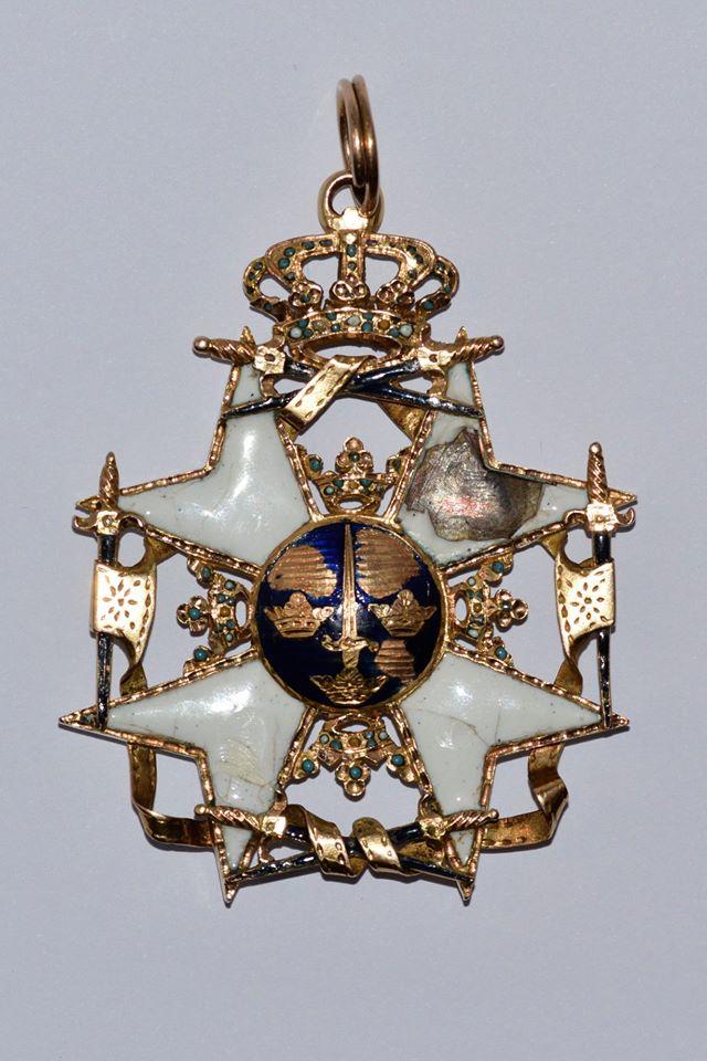 Орден Меча із зібрання шведського короля. Саме таким знаком був нагороджений Григорій Орлик